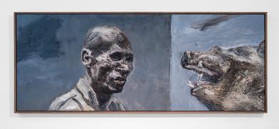 Johann Louw | Untitled | 2017 | Oil on Panel | 122 x 47 cm