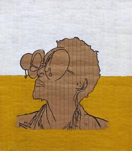Cyrus Kabiru | Vice Versa | 2014 | Acrylic on Paper | 29.5 x 25.5 cm