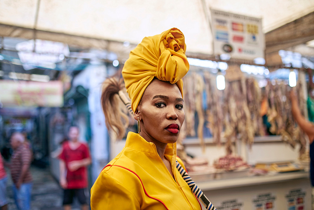 Lhola Amira | Obawo Bayeza/ os deuses estão chegando | 2019 | Espon Hot Press Natural Giclée Mounted Diasec | Sizes Variable | Edition of 3 + 2 AP