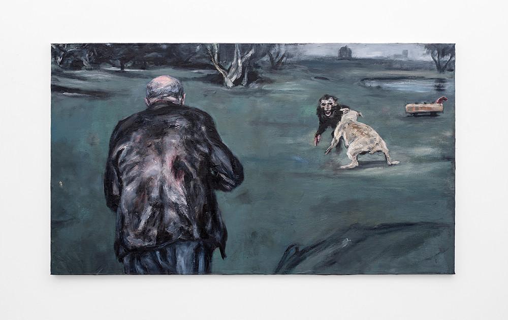 Johann Louw | Poussin se oggendwandeling | 2020 | Oil on Canvas | 122 x 212 cm