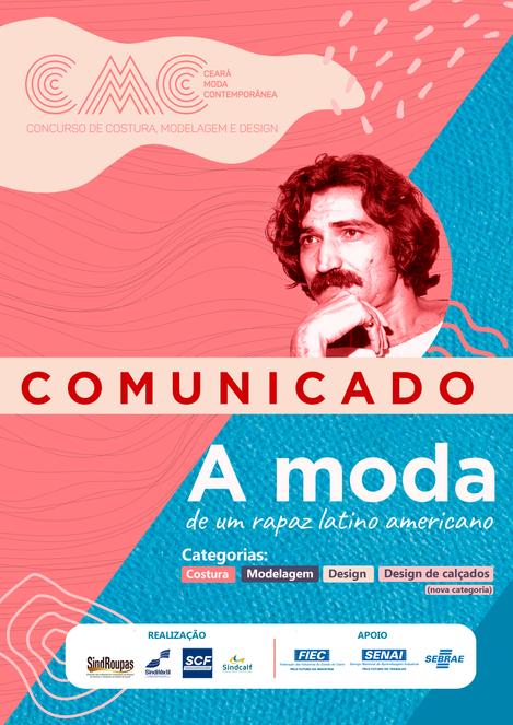 COMUNICADO  CONCURSO CEARÁ MODA CONTEMPORÂNEA 2020