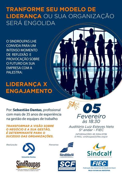 Convite Palestra Liderança e Engajamento