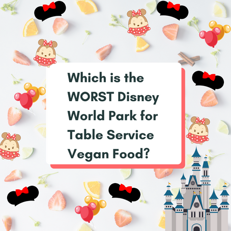 This is the WORST Disney World Park for Table Service Vegan Food!