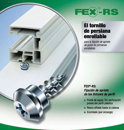 Tornillo de persiana enrollable