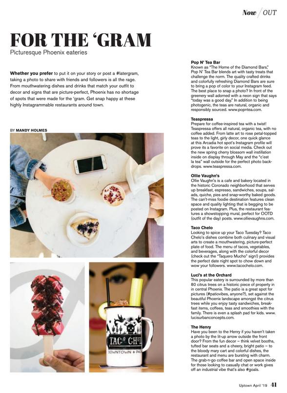 Picturesque Phoenix eateries - UPTOWN Magazine