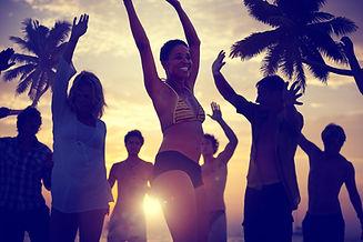 Festa na praia