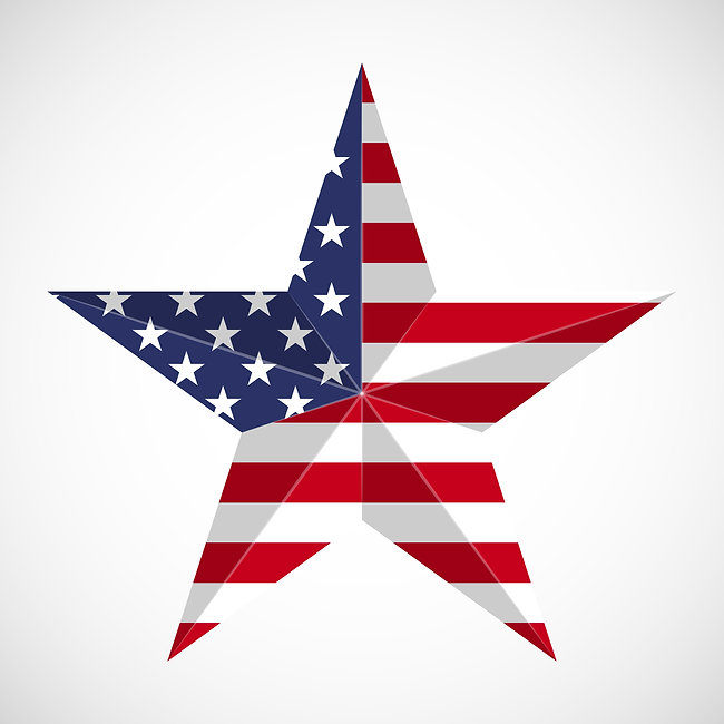 Star in national flag usa. Memorial day