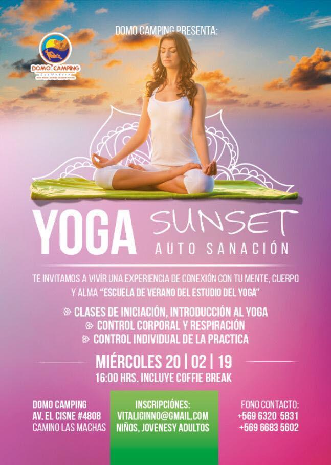 yoga sunset auto sanación