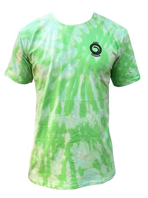 Polera Shibori Batik Green Utopic Outdoors