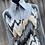 Thumbnail: Gray, Tan, & White Vest with Hobby Horse shirt- Womens Lg/XL