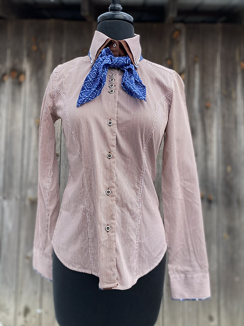 Kathy's Tales button up & scarf- Womens Small