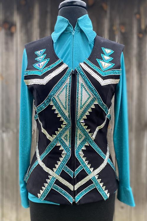 Teal Vest Set- Womens Xs