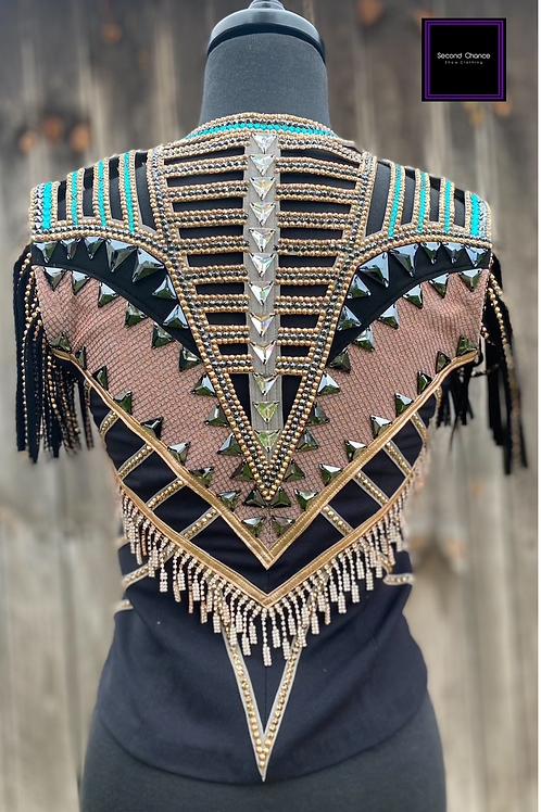 Unbridled Couture Cut-Out Vest- Women's XXS/XS