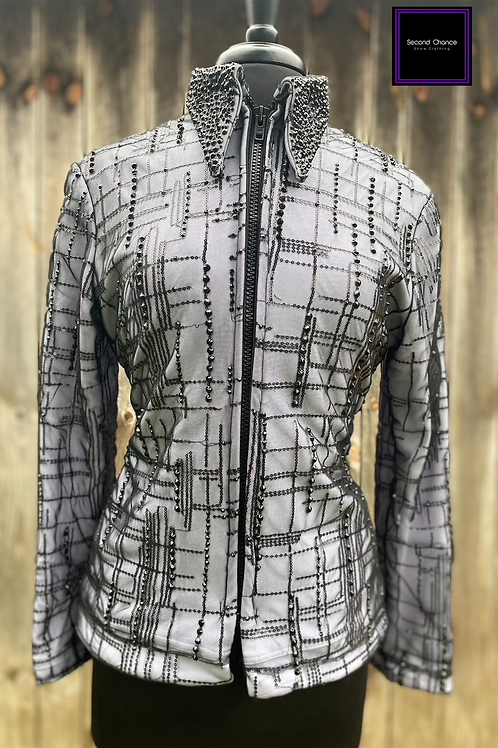 Black & Gray Expressions Jacket- Womens Large