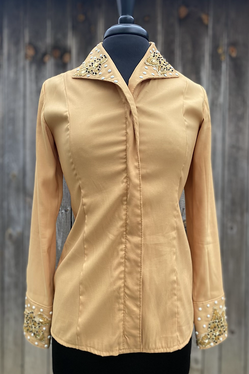 Gold Showtime Zip Up- Womens Medium