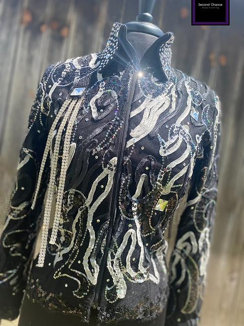 Sparkling Show Clothes jacket with fringe- Womens Medium