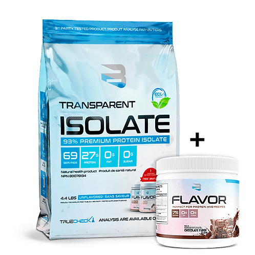 BELIEVE TRANSPARENT ISOLATE 4.4lb with FREE FLAVOUR PACK