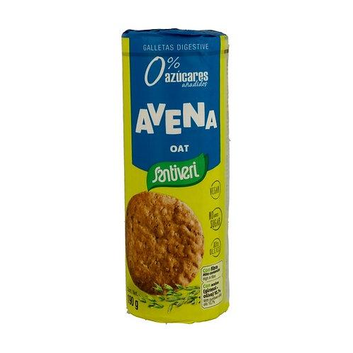 Galletas de Avena 0% az. 190g Santiveri