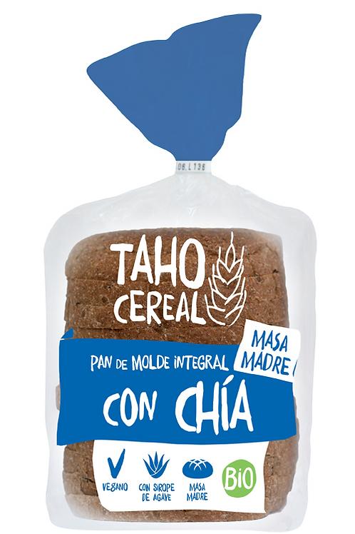 Pan de molde con harina integral con chía 400gr Taho Cereal