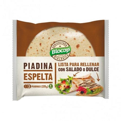 Piadina de trigo Espelta (3unds) 225g Biocop