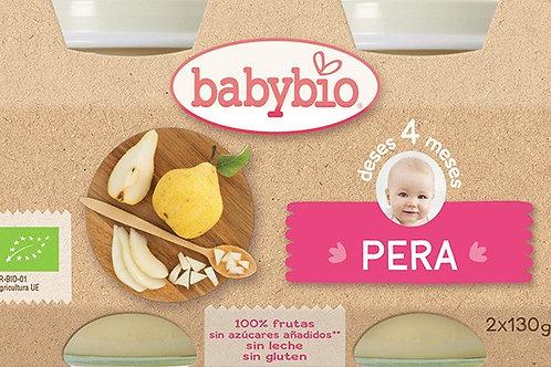 Tarrito ecológico de pera 2x130g Babybio