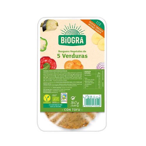 Burguer 5 Verduras 160g Biográ