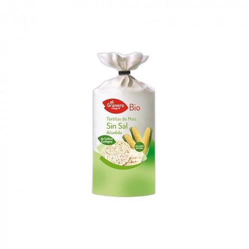 Tortitas de Maiz sin Sal - El Granero Integral - 120 g