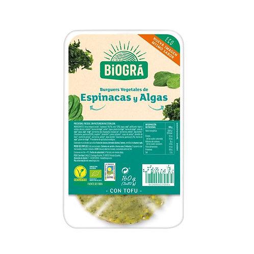 Burguer de Espinacas y Algas 160g Biográ