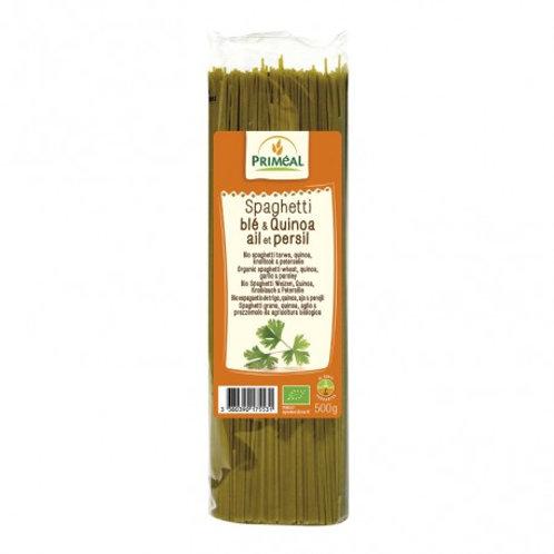 Espaguetti de Trigo Quinoa Ajo y Perejil 500g Primeal