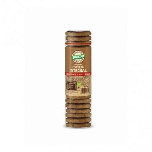 Galleta Espelta Integral Chocolate y Avellanas 250g Biocop