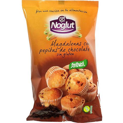Magdalenas con pepitas de chocolate - Noglut Santiveri - 170g