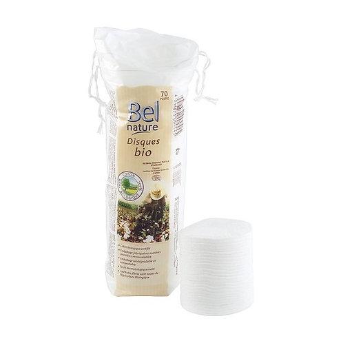 Discos desmaquilladores de algodón ecológico - Bel Nature -  70ud