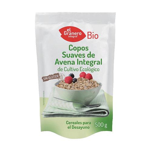 Copos Suaves de Avena Integral Sin Gluten - El Granero Integral - 500 g