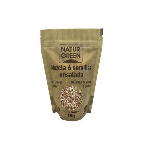 Mezcla 6 semillas ensalada - Naturgreen - 225g