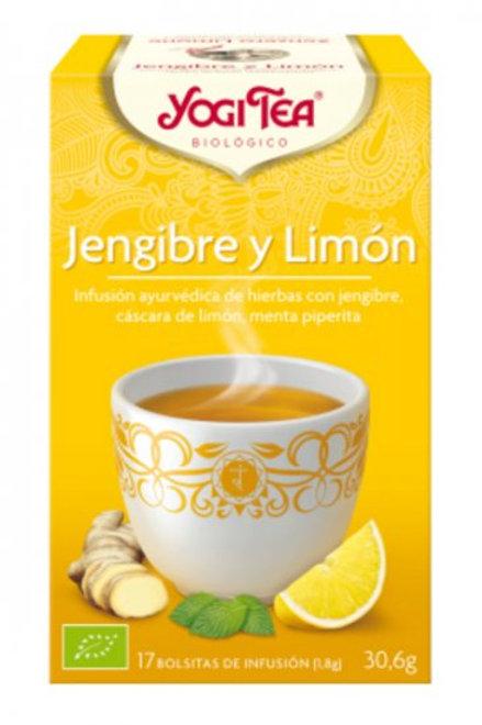 YogiTea Jengibre y Limón 17 bolsitas
