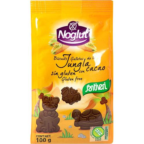 Galletas de la jungla con cacao 100g Santiveri Noglut