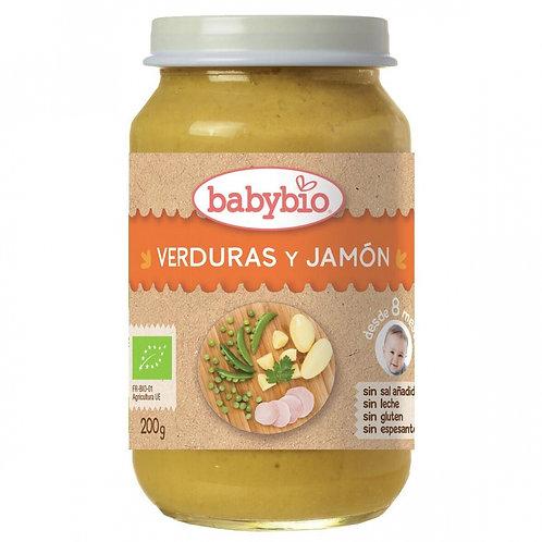 Tarrito Verduras y Jamón - Babybio - 200 g