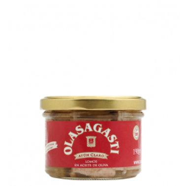 Lomos de Atún claro en aceite oliva - Olasagasti - 190 g / 12 uds.