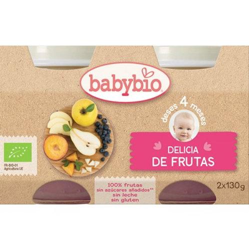 Tarrito Ecológico Delicia De Frutas 2x130 G. BabyBio