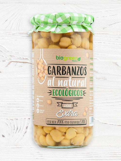 Garbanzos al Natural cocidos 720ml Biogreen