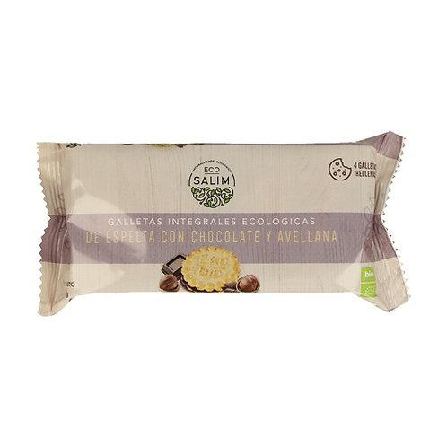 Galletas integrales Espelta chocolate y avellanas (4unds) 80g Eco-Salim