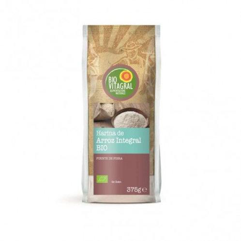 Harina de arroz integral sin gluten - Biovitagral - 375 g