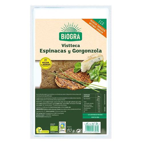 Vistteca vegetal Espinacas Gorgonzola 90g Biográ