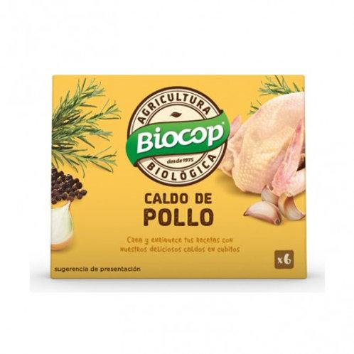 Caldo Pollo cubitos 66g (6cub) Biocop