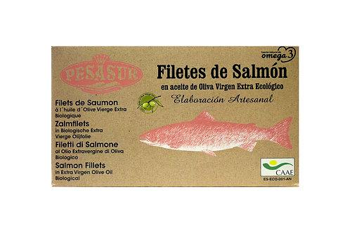 Filetes de salmón, pesasur