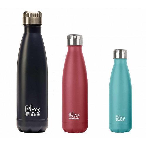750 ml. Botella reutilizable Bbo Irisana, acero inoxidable con funda de neopreno