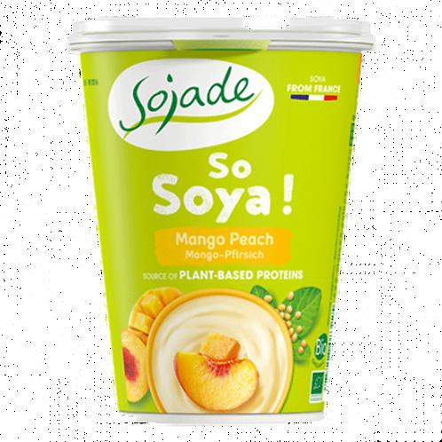 Yogur Soja Mango Melocotón 400g Sojade