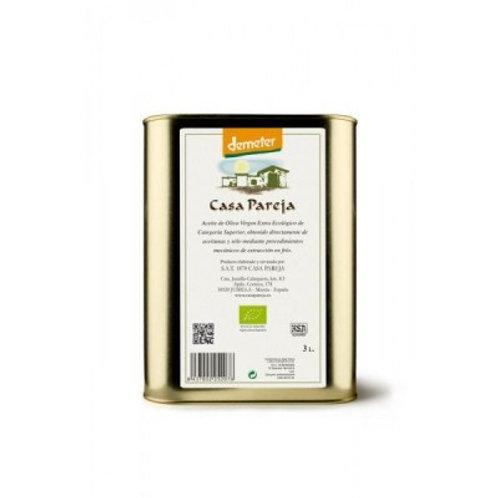 Aceite Ecológico - Demeter Casa Pareja - Lata 3 Litros