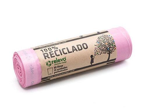 RELEVO - BOLSA DE BASURA PERFUMADA 30L - ROLLOS DE 15 BOLSAS