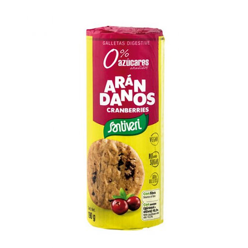 Galletas Digestive con Arándanos 0% az. 190g Santiveri